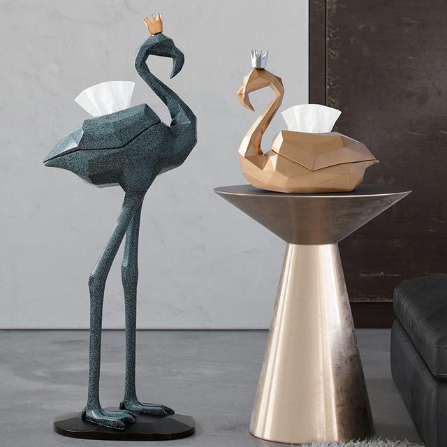 Flamingo Tissue Box