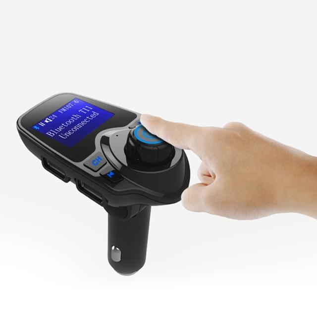 Bluetooth Trasmettitore FM USB Kit Per Auto Aux 12V Lecteur USB Voiture In Metallo E Plastica MP3 Lettore Auto Per Auto ABS Bluetooth MP3
