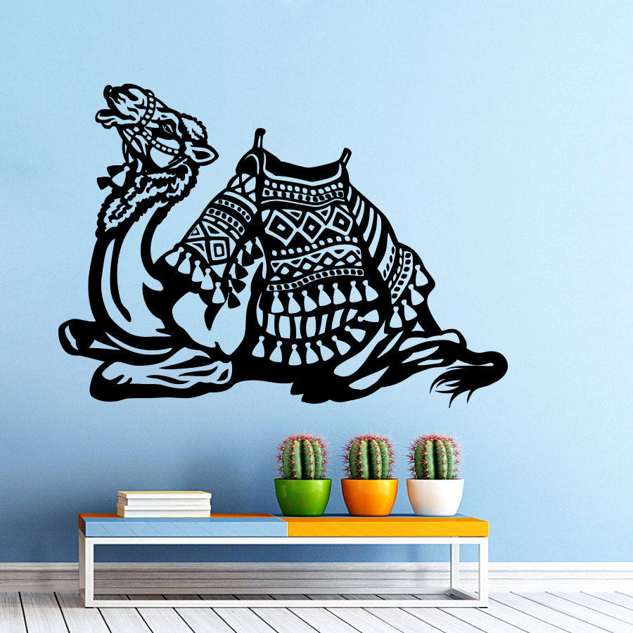 Camel Vinyl Wall Decal Animals Jungle Safari African Animal Camel Mural Art Wall Sticker Bedroom Living Room Home Decoration