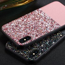 Luxury Glitter Bling Case For iPhone X XS Max XR  Hard Back Cover 7 8 6 6s Plus Coque Funda