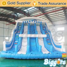 Inflatable Biggors Inflatable Double Lane Slide For Amusement Park
