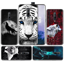 Silicone Case for Oneplus 1+ 7 Pro 7Pro 6T 6 5G Black Dark Coque Shell Cell Phone Cover Mobile Bags Fierce Snow Wolf Painted(China)