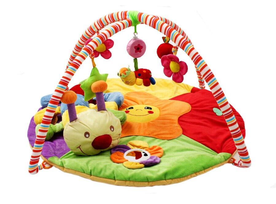Jouet de bébé tapis de gymnastique pour jeu couverture tapis soft touch ver jouet arc