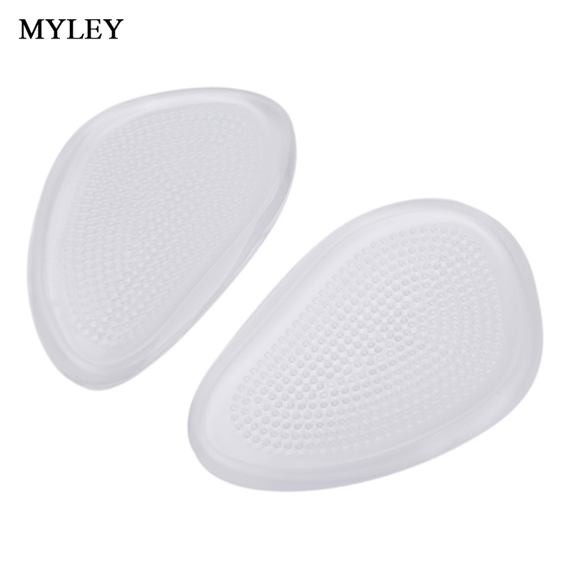MYLEY Silicone Transparent Gel Insoles Metatarsal Front Foot Cushions for High Heels Forefoot Pads Cushion Pad Relieve Feet Pain 20 pack 1pcs foot gel forefoot metatarsal pain relief absorber cushion ball of foot pad m
