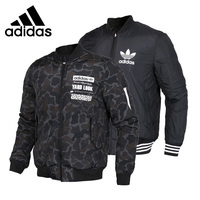 Original New Arrival 2017 Adidas Originals GRAPHIC REV BOM Men's Cotton padded Reversible Jacket Sportswear