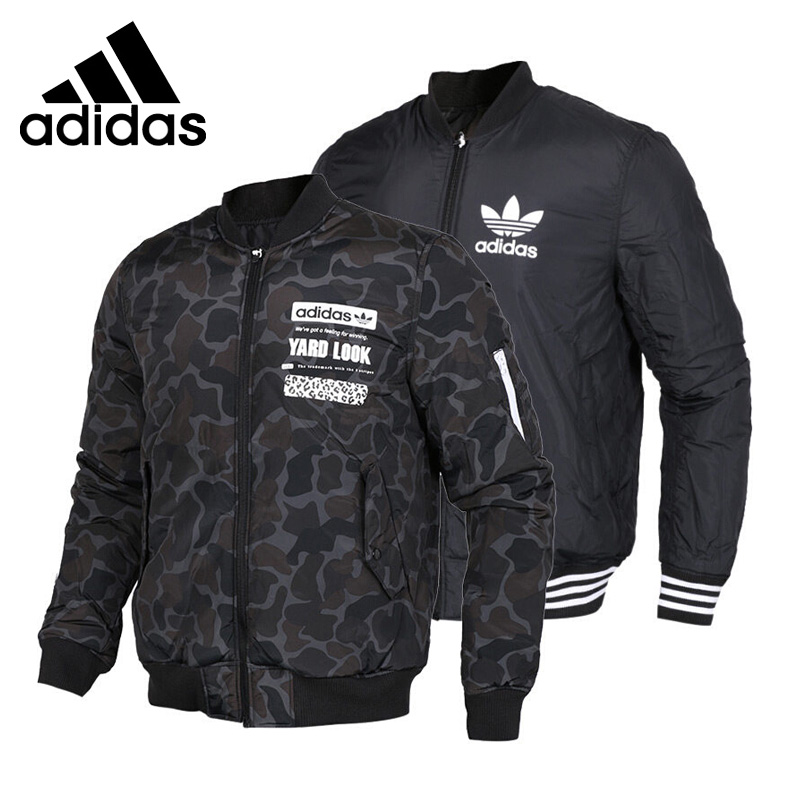Original New Arrival 2017 Adidas Originals GRAPHIC REV BOM Men's Cotton-padded Reversible Jacket Sportswear