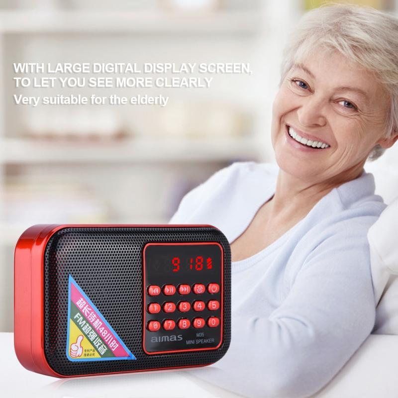 SchöN Mini Fm Radio Lautsprecher Tragbare Digitale Stereo Radio Noise Cancelling Hohe Fidelity Sound Qualität Led-anzeige Usb Tf 3,5mm Aux Eine Hohe Bewunderung Gewinnen Tragbares Audio & Video