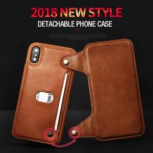 Image 4 - Musubo高級レザーケース × フリップケースiphone 8 プラス 7 6 6sプラスtpu財布カードホルダー着脱式