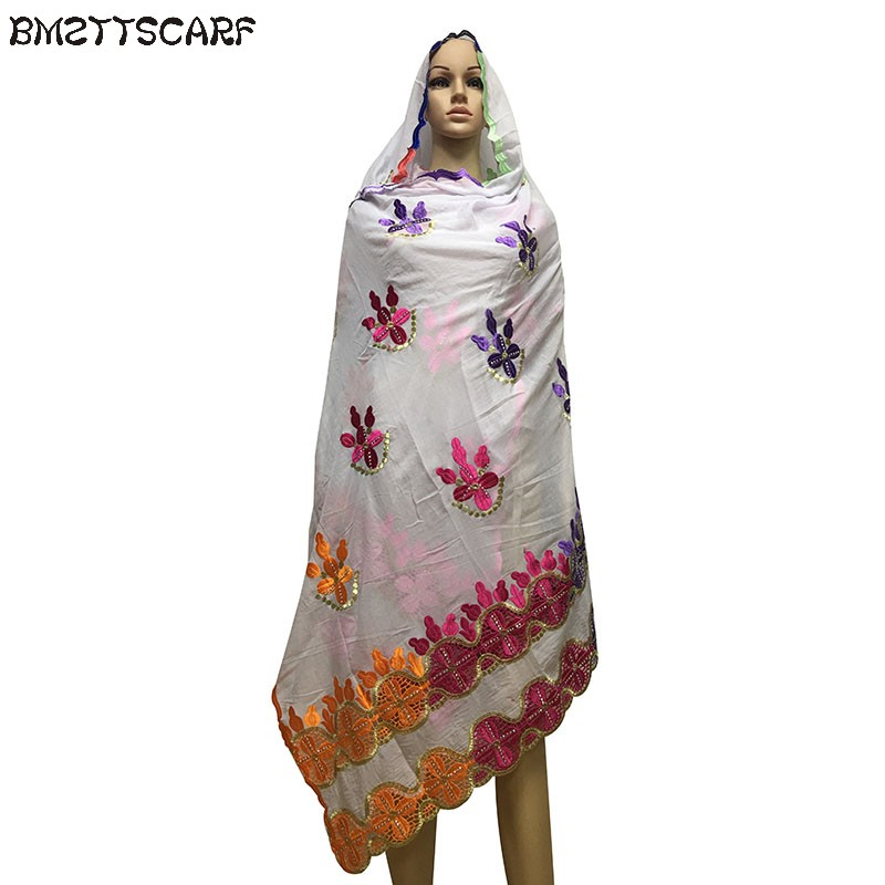 New Winter African Women Scrafs,muslim embroidery big cotton   scarf   for shawls   wraps   pashmina BM417