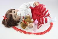 silicone reborn baby doll toys with magnet pacifier