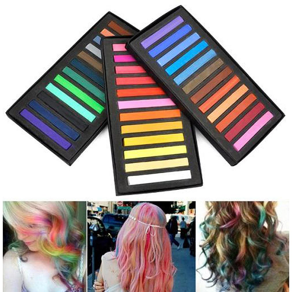 New 36 Pcs Temporary Color Hair Dye Soft Pastels Chalk Salon Non Toxic Fashion