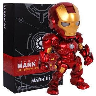 Marvel Avengers Super Hero Iron Man Mini LED <font><b>Flash</b></font> Light 15CM PVC <font><b>Action</b></font> <font><b>Figure</b></font> Doll Set <font><b>Model</b></font> <font><b>Funko</b></font> <font><b>Pop</b></font> Collection Kid Toy Gift