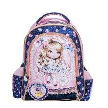 Encantadora Princesa Barbie niños bolso de escuela de la muchacha niños estudiantes de gran capacidad mochila infantil bolsa de viaje bolsa de dibujos animados de alta calidad