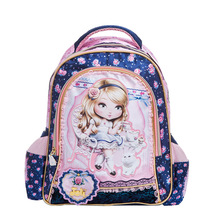 Lovely large capacity Princess Barbie children school bag girl kids students child backpack travel cartoon bag