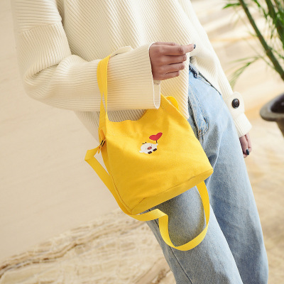 Female Handbag Chicken-Pattern Totes Crossbody-Bag Canvas Printing Small Women Simple