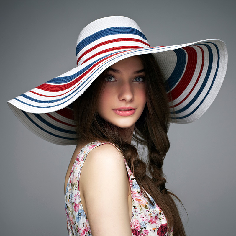 High Quality Bohemian Style Women Beach Hat Handmade Straw Sun Hat Large  Brimmed Straw Hat Tourist Beach Essential Wholesale-in Sun Hats from  Apparel ... bfeded0f571