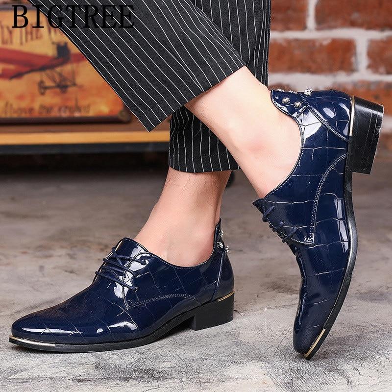 Robe Arrivée Noir Buty Italien Oxford Formelle bleu Marque Nouvelle Cuir Hommes Chaussures En Pour Verni Mens Luxe 2019 rouge De Royal Damskie Mode 7qwZSdwOcf