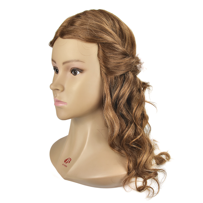 Crno 20Inch frizerske lutke glave ženski frizerski trening glavu s - Njega kose i styling - Foto 3