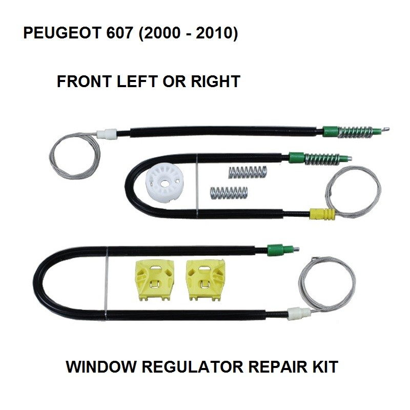 FOR PEUGEOT 607 WINDOW REGULATOR REPAIR KIT FRONT-LEFT 2000-2010