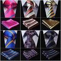 New Striped 3.4 Gravatas de Seda Tecida de ''Men Laço Bolso Praça Handkerchief Set # M6 Clássico Do Casamento Festa de Casamento