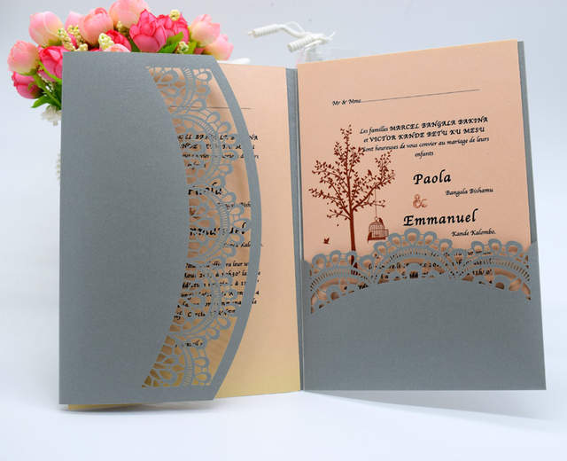 Us 20 0 Luxury Wedding Invitations Cards Baptism Invitations Laser Cut Birthday Dinner Party Invitation 50pcs Rsvp Card In Cards Invitations From
