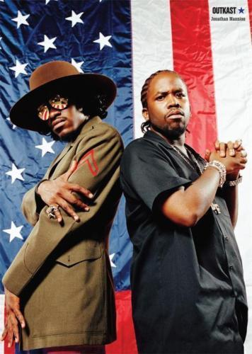 Hot OUTKAST Stankonia Hip Hop Duo Album Rap-Silk Art Poster Wall Sticker Decoration Gift image