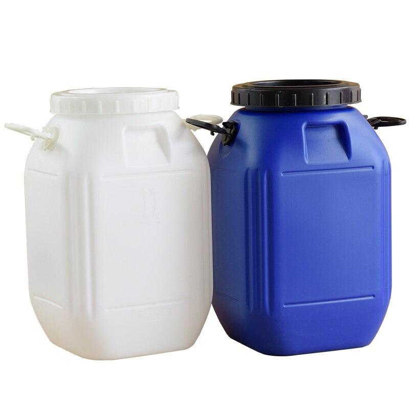 50L سعة كبيرة وعاء بلاستيكي الغذاء الصف Hdpe البلاستيك التعبئة والتغليف النقل الحاويات المنزلية تخزين دلو-في تخمير من المنزل والحديقة على  مجموعة 1