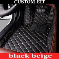 Custom fit car floor mats for Volkswagen CC Eos Golf Jetta Passat Tiguan Touareg sharan 5D car styling carpet floor liner