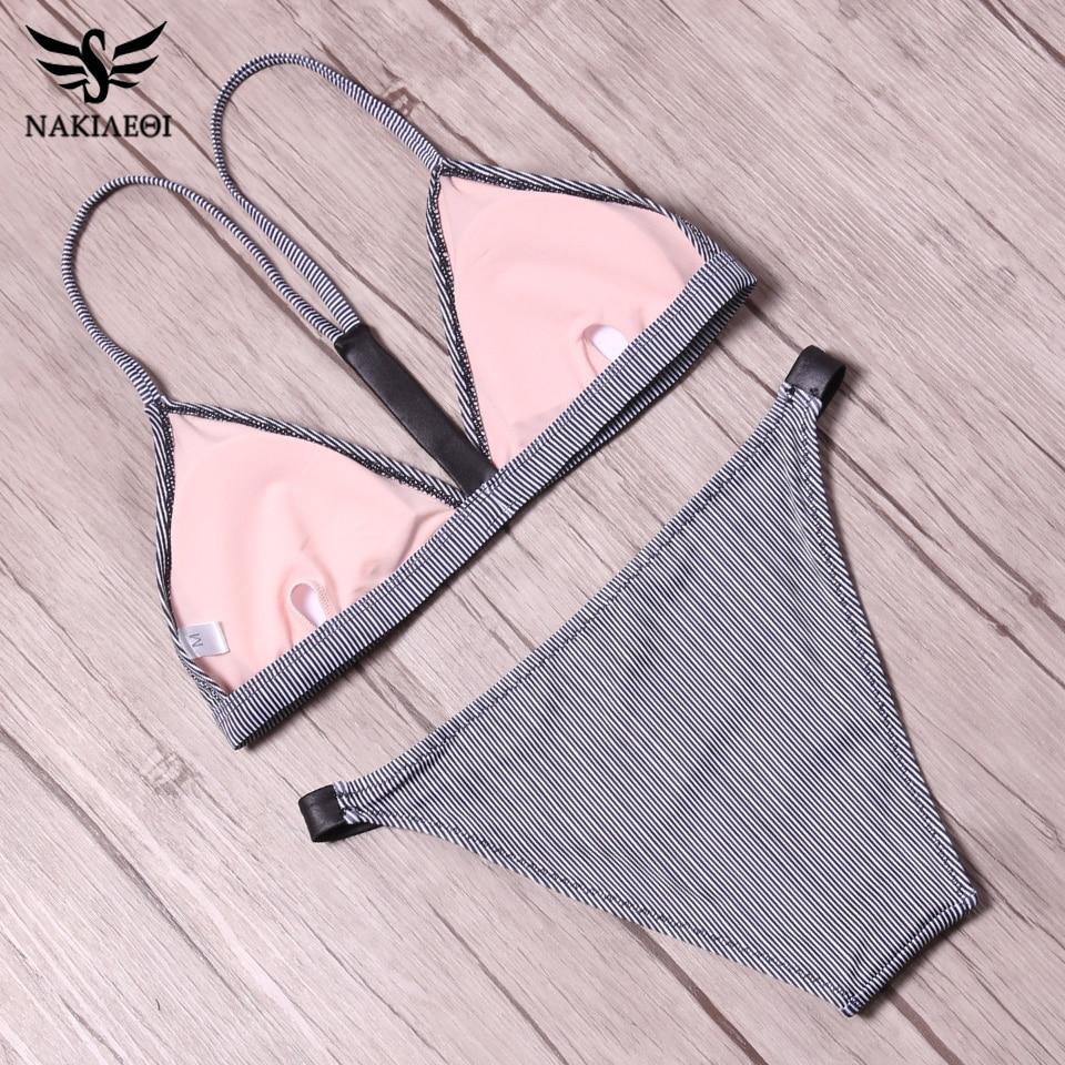 NAKIAEOI 2018 Sexy Brazilian Bikini Women Swimsuit Push Up Swimwear Female Mini Micro Thong Beach Bathing Suit Swim Wear Biquini 5