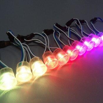 1500 unids/lote DC5V píxeles de módulo LED WS2811 Color completo 20mm cubierta transparente impermeable IP68 LED punto de luz