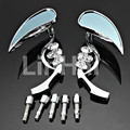 Chrome Teardrop Skull Rearview Mirrors For Harley Motorcycle Chopper Custom Free Shipping