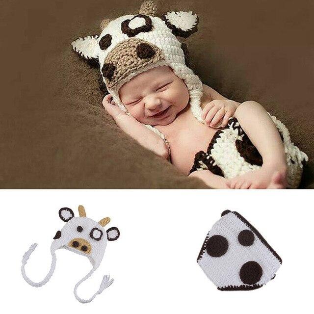 Vaca loca Del Bebé Accesorios de Fotografía de Punto sombrero y ...