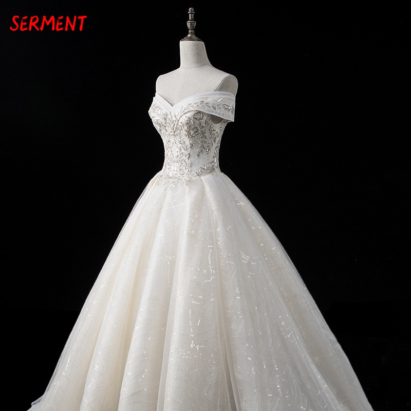 30% Discount 2019 New Wedding Lace Tail Long Sleeve Aristocratic Elegant Bride Print Explosion Dress