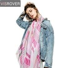 VISROVER Leopard Scarf 2019 Women Brand new Fashion Shawl Soft Wrap Pashmina Muslim Hijab Beach Ladies Silk Scarves