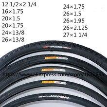 1PC 14/16/20/24/26*1.50/1.75/1.95/13/8 Tire Mountain Bike The Folding Tires 12 1/2 1/4 Neumaticos  27*1 1/4