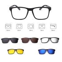Vazrobe Magnetic Sunglasses Polarized 5 Lens Fit Over Eyeglasses Frame Night Day Driving for Prescription Optical Clip on Lenses