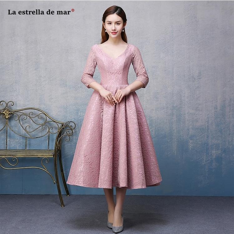 Vestido formatura 2019 new sexy V neck backless half sleeve a Line blush pink short prom dress plus size gala dresses cheap