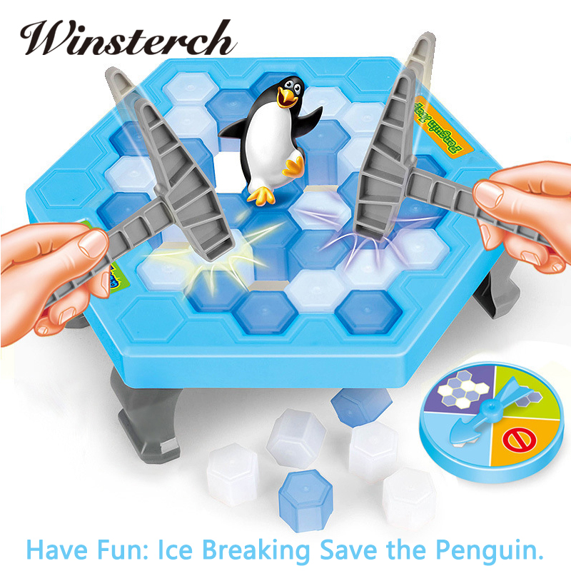 Interactive Ice Breaking Save Penguin Trap Parents Children Kids Fun Game Activate Entertainment Toy Penguin Trap With Box ZG007 children funny lucky game gadget joke toy projectile fun