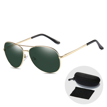 Vintage Men Polarized Glasses Brand Designer Aviation Pilot Sunglasses for Women Fashion UV400 Driving Sun Glasses with Zip Case цена 2017