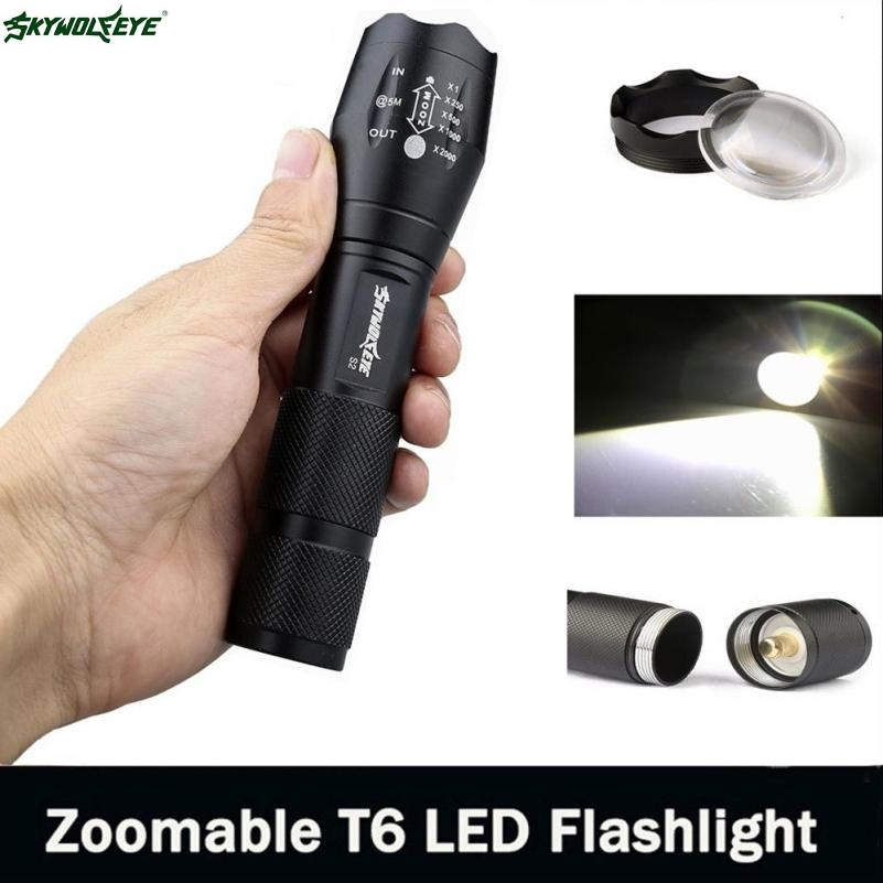 DC 2 Shining Hot Selling Drop Shipping  3500 Lumen 5 Modes CREE XM-L T6 LED Torch Powerful 18650 Flashlight Lamp Light dc 22 shining hot selling drop shipping outdoor uf t20 cree infrared ir 850nm night vision zoom led flashlight lamp