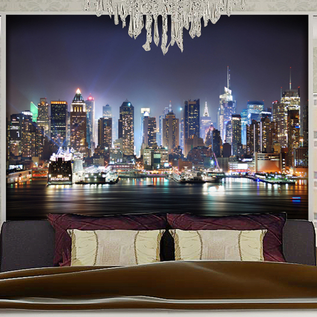 Charmant Custom Photo 3D Stereoscopic City Lights Mural Wallpaper Bedroom Living  Room TV Background Wallpaper Mural