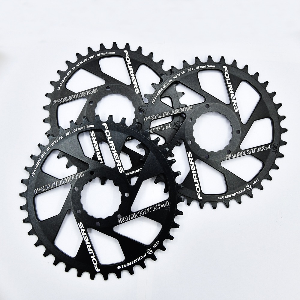 FOURIERS 3mm offset Bicycle N//W Single Chain ring Direct Mount for CINCH system