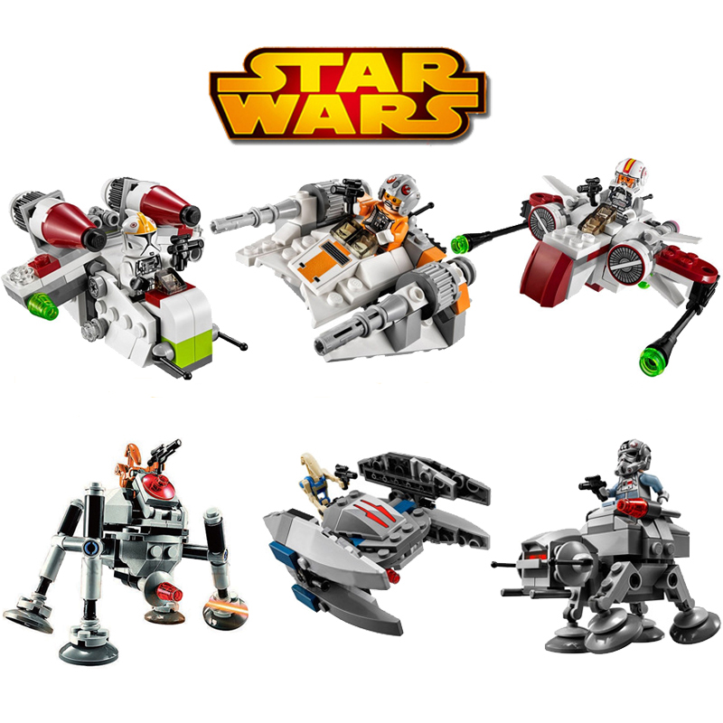 Bela 6pcs/lot Star Wars MICROFIGHTERS Republic Gunship ARC-170 Starfighter Building Blocks Model Toys Compatible With legoeINGly джинсы мужские g star raw 604046 gs g star arc