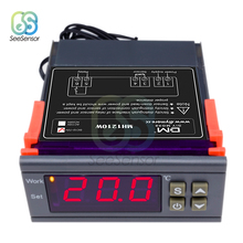 MH1210W 220V 12V 24V 10A Digital Thermoregulator Thermostat Temperature Controller Thermometer for Incubator NTC Sensor -50~110 stc 1000 digital led temperature controller thermostat thermometer thermo control thermoregulator for incubator sensor dc24v 10a