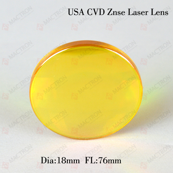 USA ZnSe Focus Laser Lens CO2(USA CVD ZnSe Materials,Dia 18mm,FL76mm) cvd znse co2 laser focusing lens with diameter 18mm focus length 25 4mm thickness 2mm