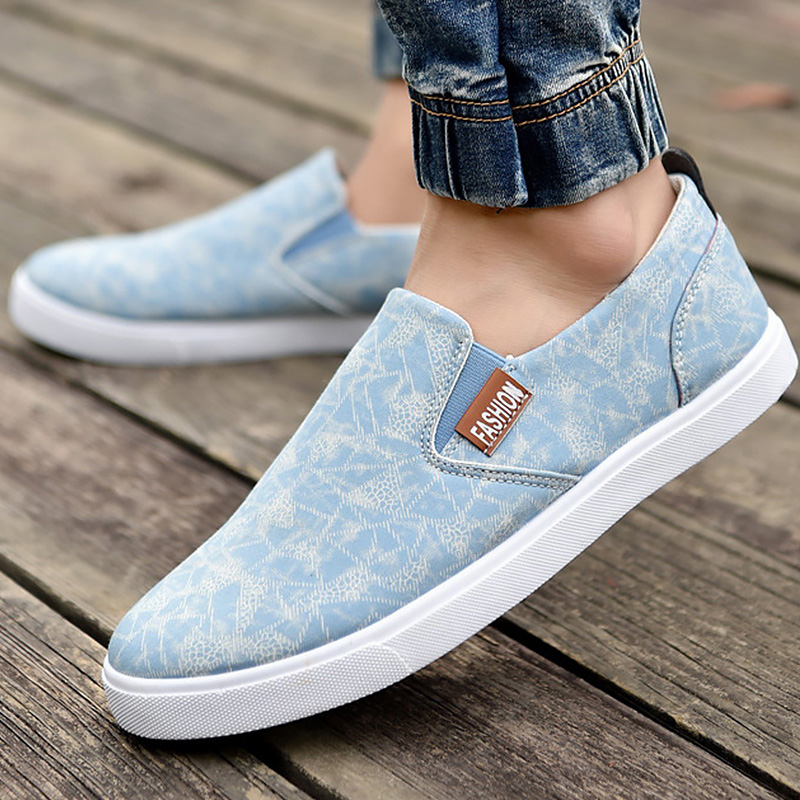Canvas shoes slip-on solid simple style lazy shoes