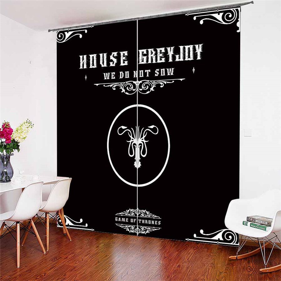 3D Window Curtains Game Of Thrones Print For Living Room Bedding Room Home Decor Tapestry Wall Carpet Drapes Cotinas #GOT-53