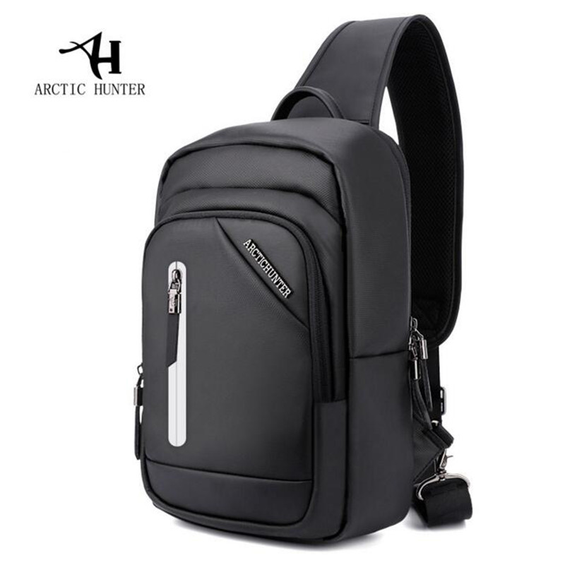 Arctic Hunter Casual Handbag Business Wealthy men's Breasts Shoulder Bag Night Reflective Strip Chest Bag Messenger Bags M572 brian h breuel staying wealthy