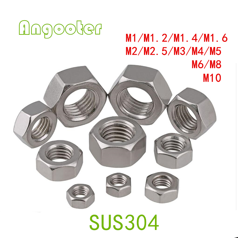 Nylon Hex Nuts DIN934 White//Black//Clear M2 M2.5 M3 M4 M5 M6 M8 M10 M12 M14 M16