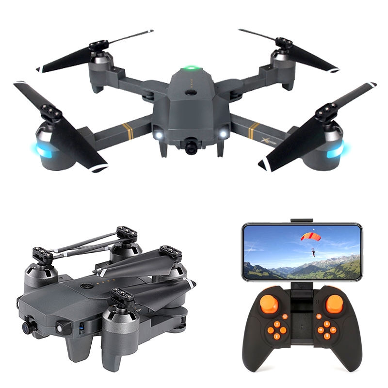 XT-1 RC Quadcopter 480P 720P 1080P Foldable FPV Selfie Drone Folding Toy Altitude Hold WIFI HD Camera Wide Angle VS E58 X12 Dron Квадрокоптер
